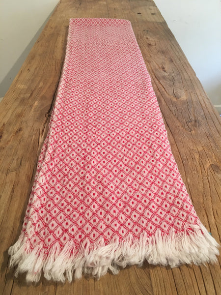 100% Superfine Cashmere Thick Red Scarf/Stole, Fairtrade