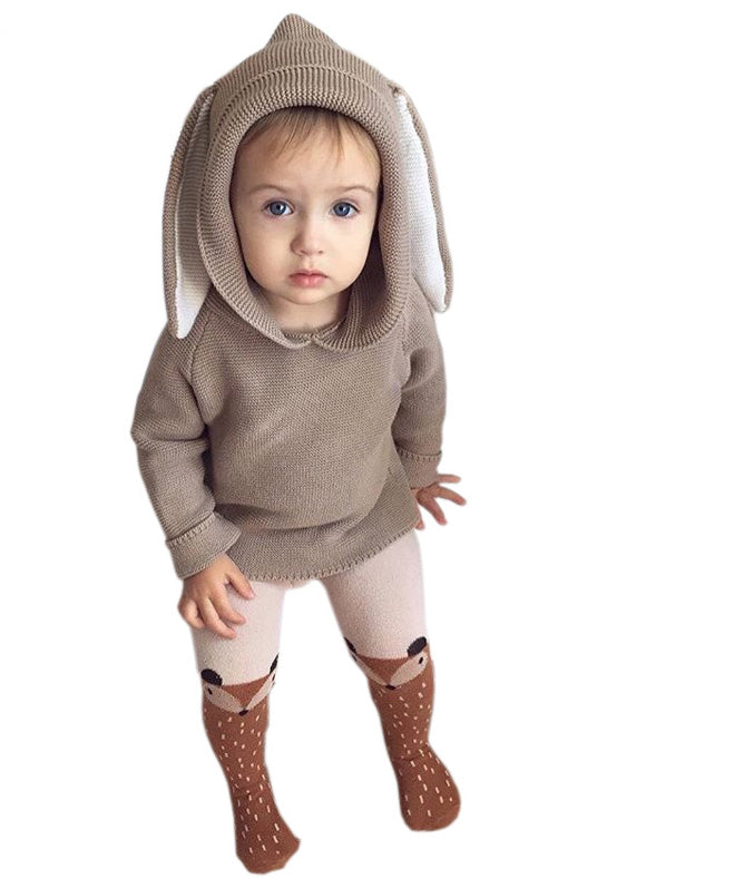 3D Rabbit Organic Cotton Sweater, Toddler & Little Boys & Girls (12M-5T)