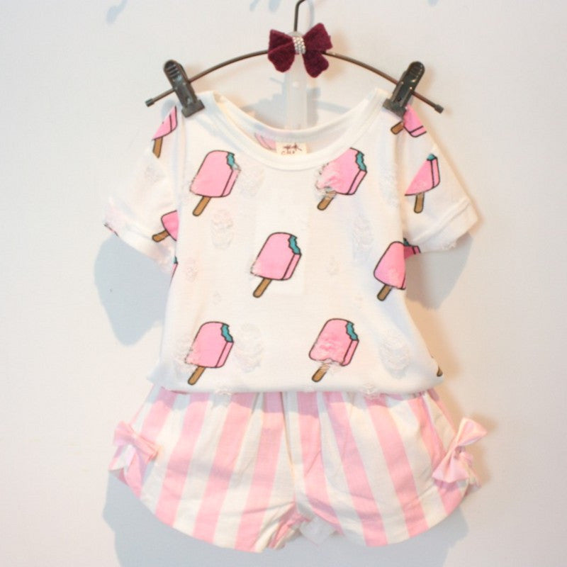 2-Piece Ice Cream Top & Short Set (3T-7X)