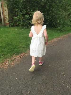 Any Occasion White Sleeveless Cotton Dress, Toddler & Little Girls (2T-8X)