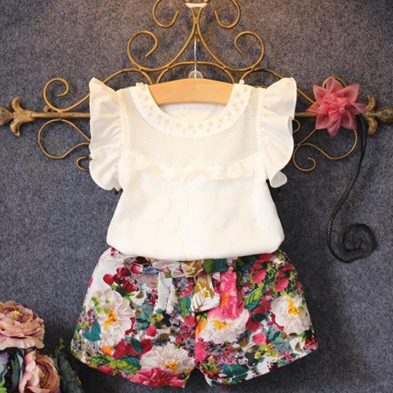 Floral Decorated Print 2-Piece Set