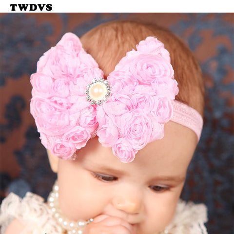 Bow knot Flower Headbands (12 Colors)