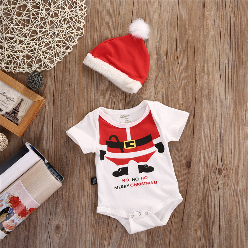 Christmas Bodysuit With Matching Hat, Baby & Toddler Boys & Girls (0M-18M)
