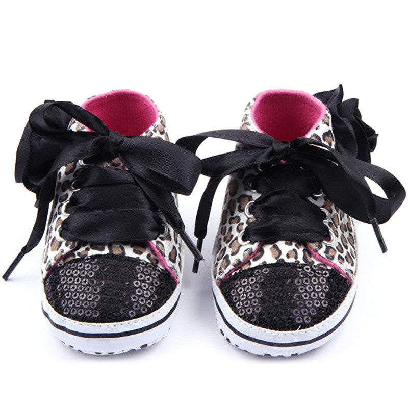 First Walker Leopard Sequin Soft Sole Shoes