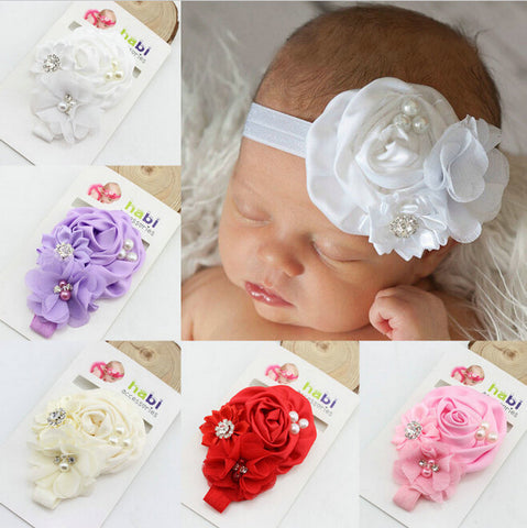 Baby Girl Flower Headbands (8 colors)