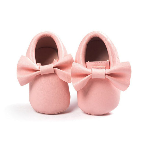 Baby Toddlers Soft Soled Tassel PU Leather Crib Shoes