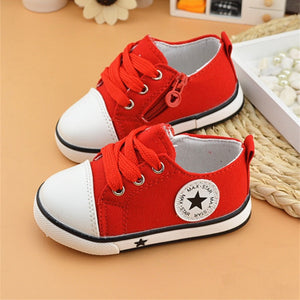 Cute Unisex Breathable Canvas Sneakers Shoes 0-3 Years Old