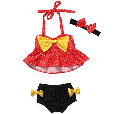 2-Pc. Dot-Print Skirted Tankini Swimsuit, Baby Girls