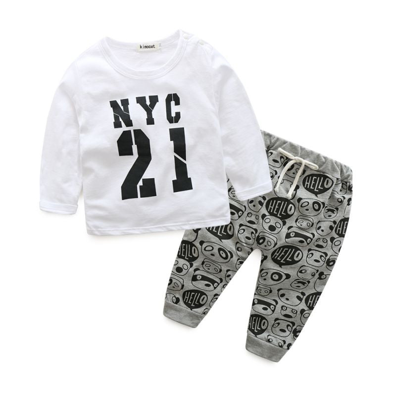 2-Piece NYC Long Sleeve Tee & Jogger Set