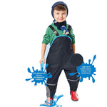 Children Waterproof Rain Pants Overalls, Toddler & Little Boys/Girls (2T-7X)
