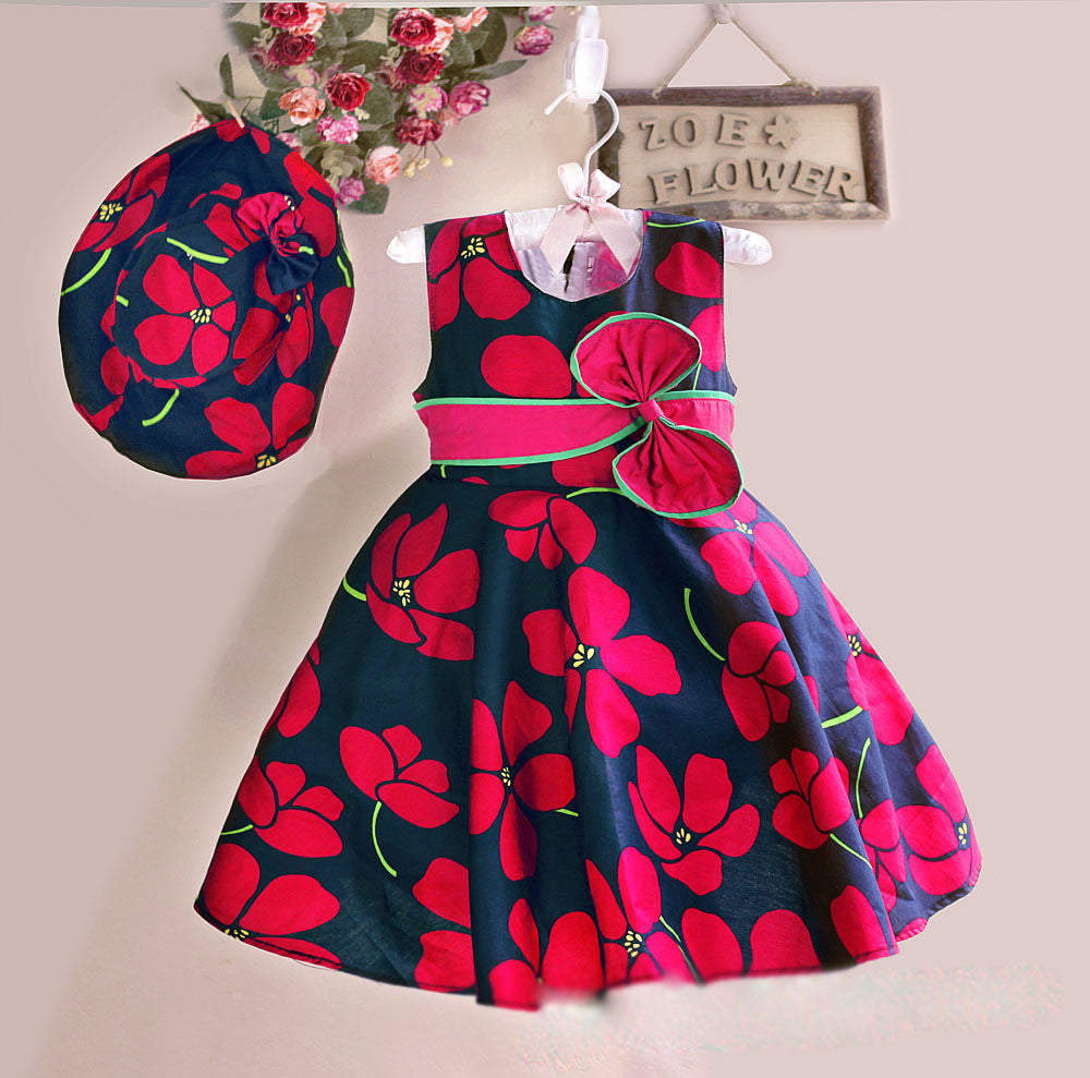 Beautiful Floral Dresses With Matching Hats
