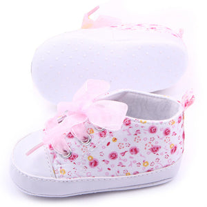 Baby Shoes Girl Floral Infant Soft Sole First Walker Toddler Shoes