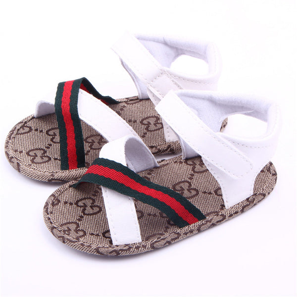 Ankle Wrap Soft Leather Crib Sandals