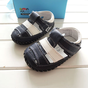 Genuine Leather Hook & Loop Sandals