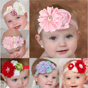 Cute Pearl Rose Flower Hair Band