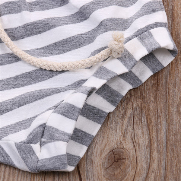 Striped Cotton Shorts, Baby Girls (9M-4T)