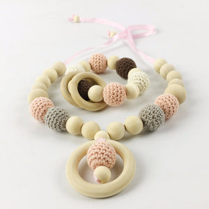 Baby Teething Necklace & Bracelet Set