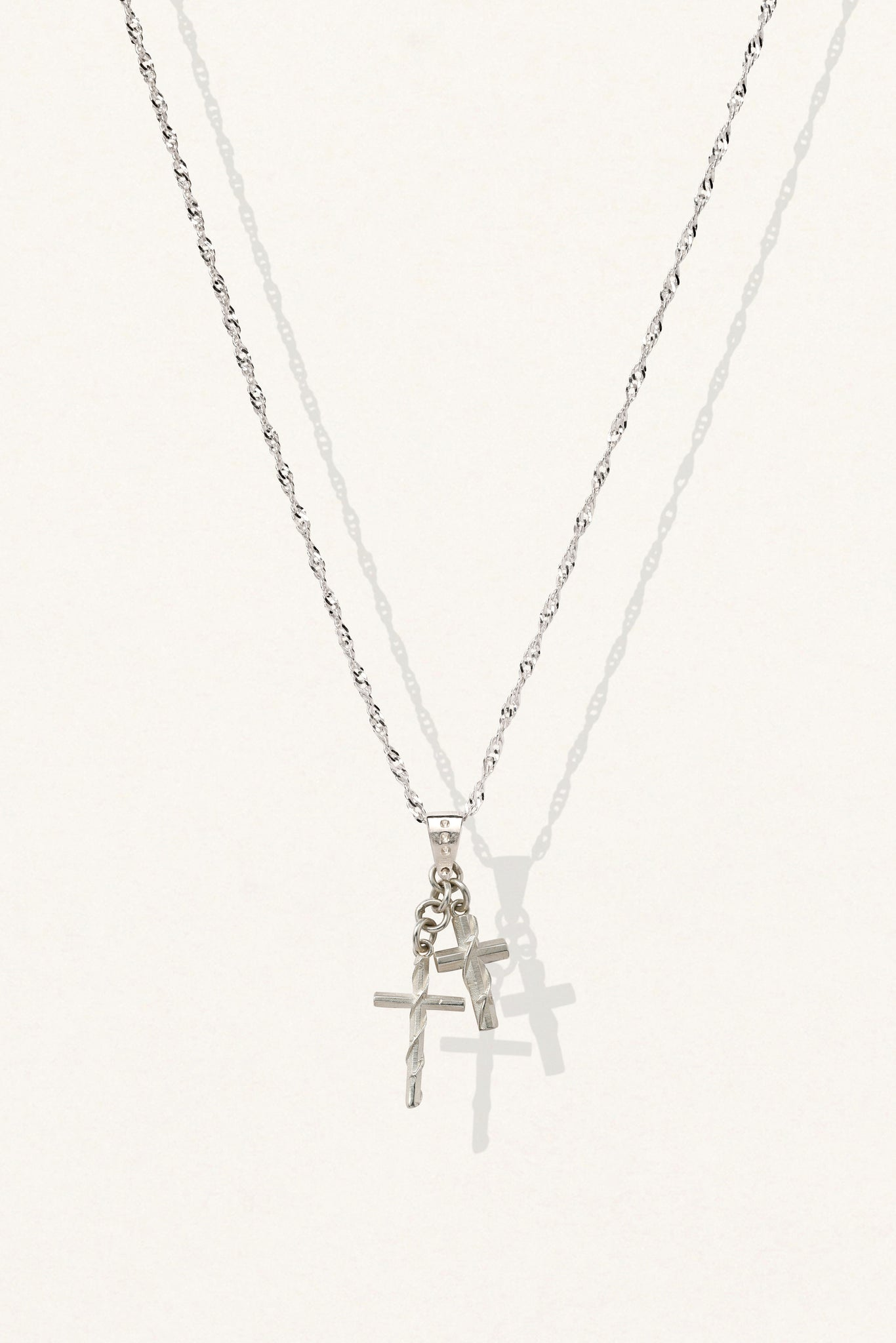 Mini Wrapped Cross Necklace