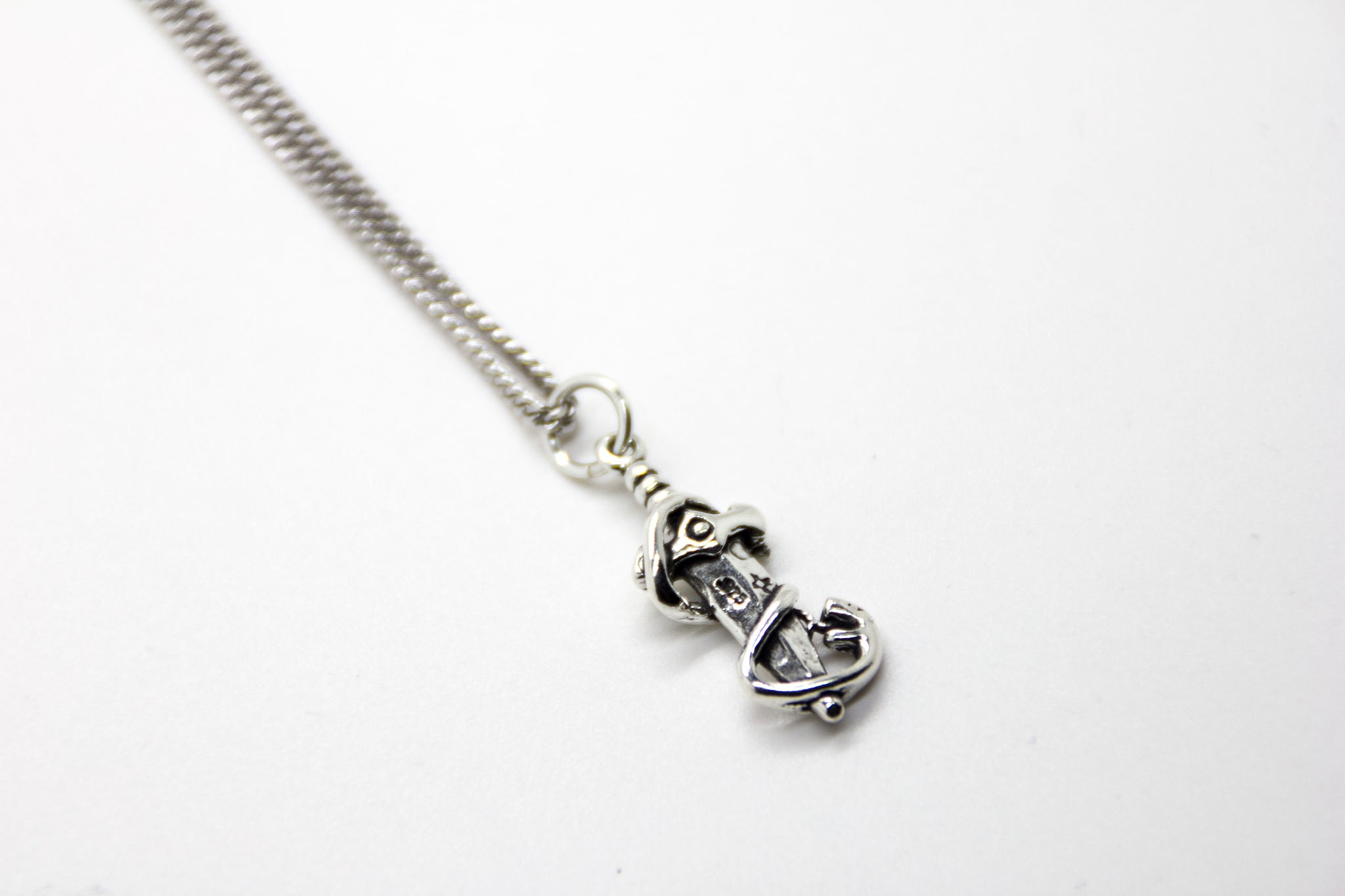 Silver Snake and Dagger Necklace