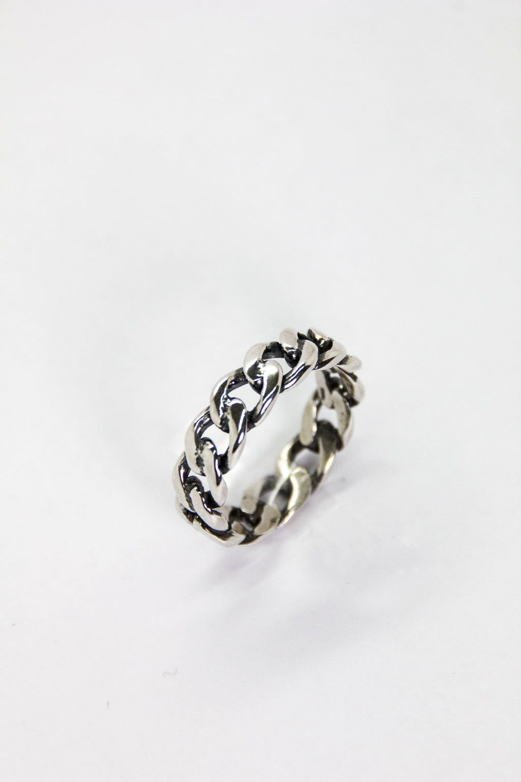 Silver Oxidized Cuban Ring