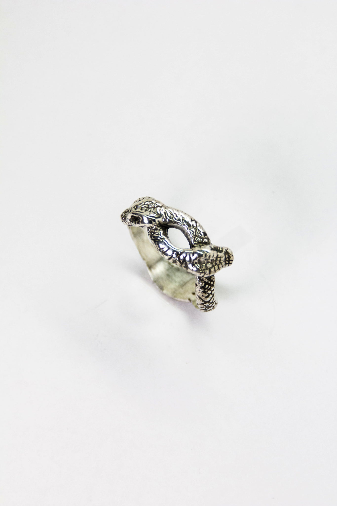 Silver Twin Serpent Ring