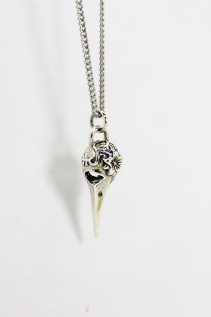 Silver Pigeon Skull Chain