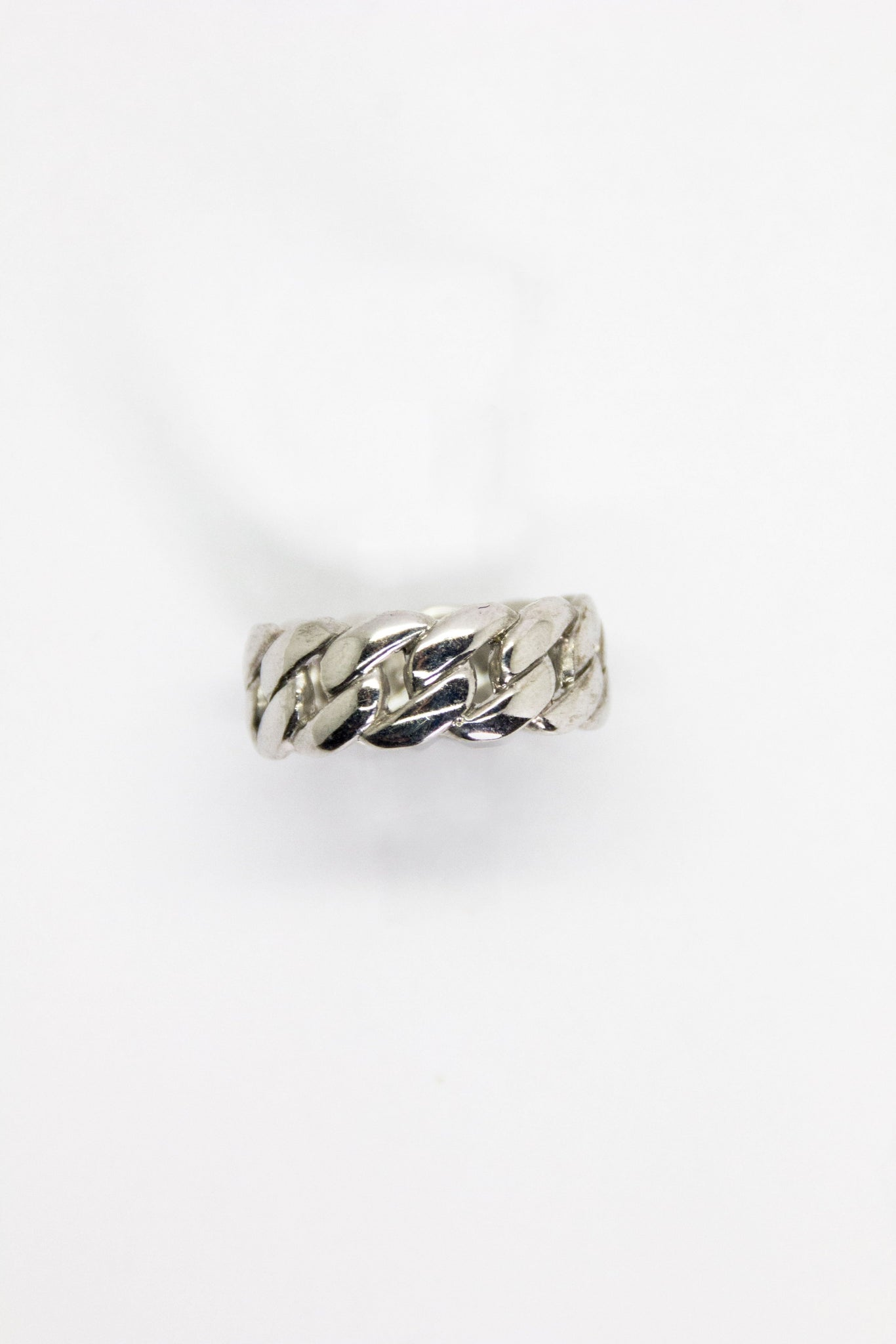 Silver Curb Ring