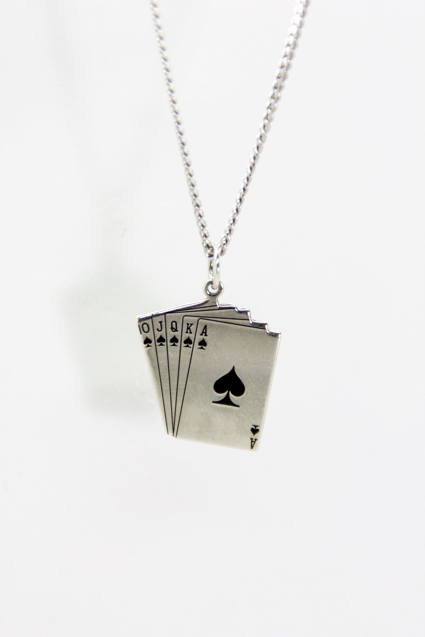 Silver Ace of Spades Necklace
