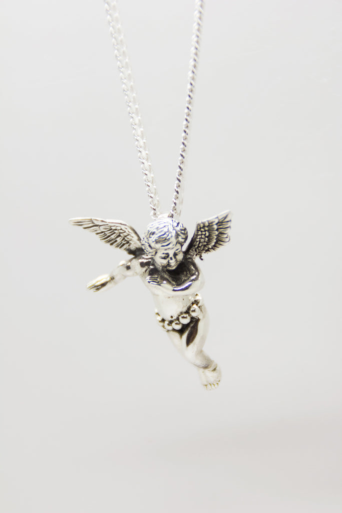 Silver Cherub Necklace