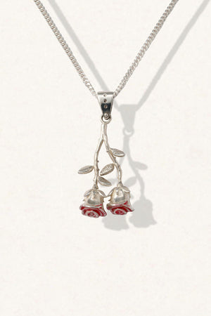 Twin Rose Necklace