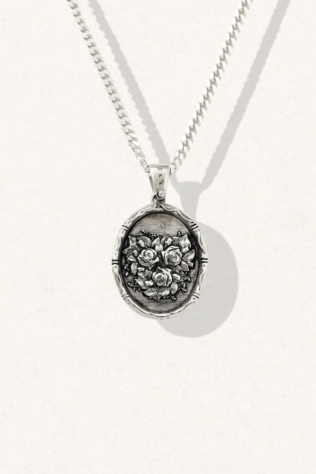 Rose Medal Necklace