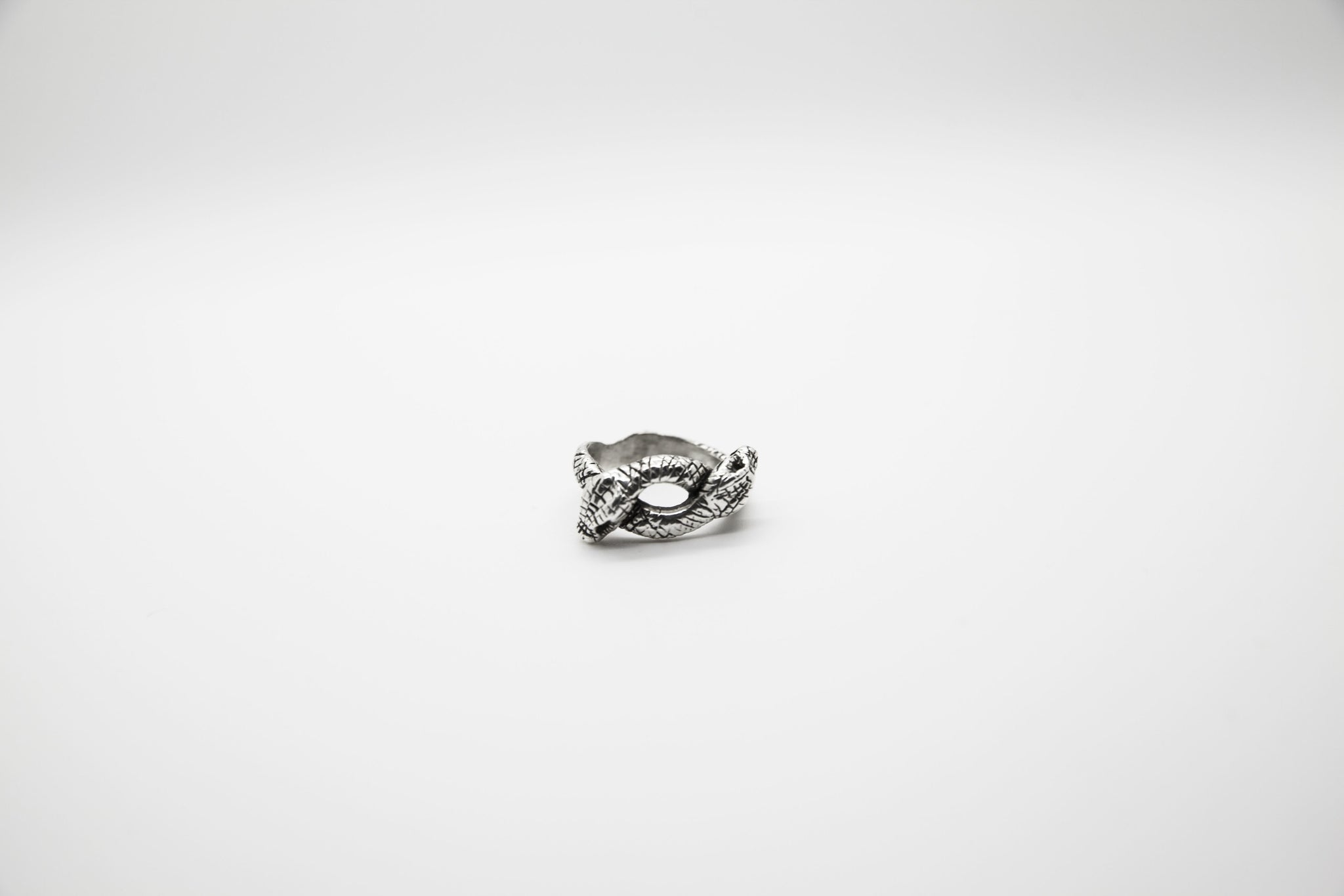 Twin Serpents Ring - The Silver Stone