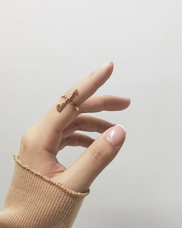 Vertical Script Ring