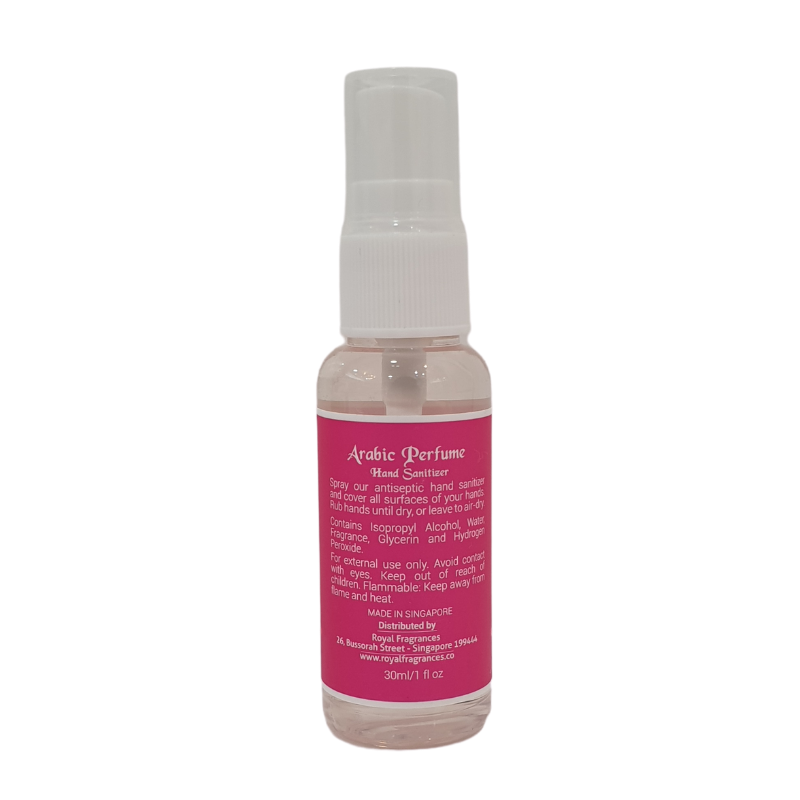 Royal Fragrances Antiseptic Perfume Hand Sanitizer Pink