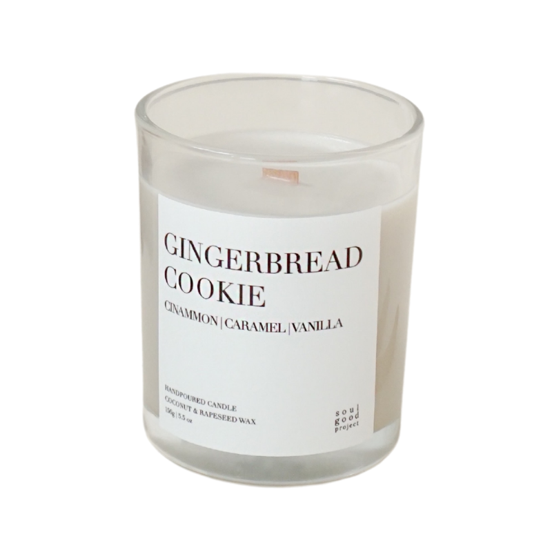 Soul Good Project Gingerbread Cookie Candle