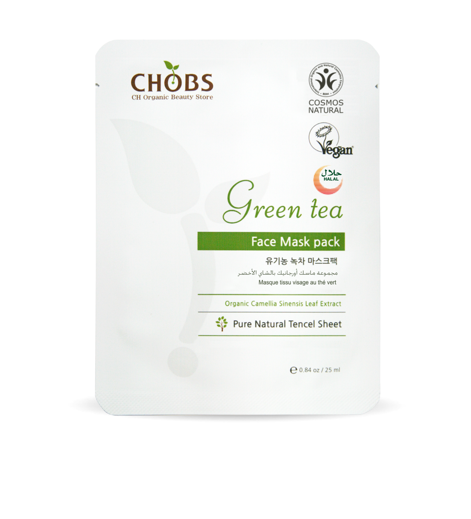 CHOBS Organic Green Tea Mask Pack 25ml