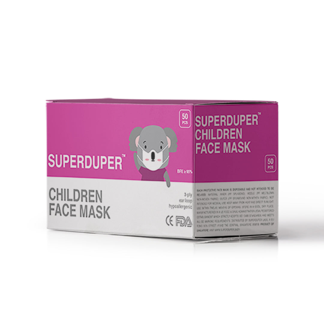 SUPERDUPER Children Face Mask