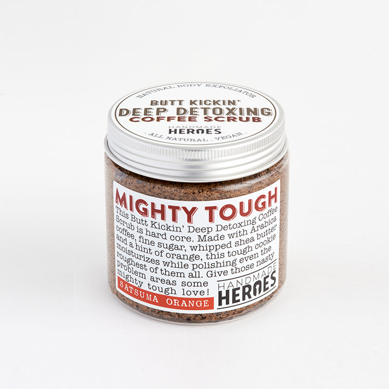 Handmade Heroes - Butt kickin' deep detoxing coffee scrub with Satsuma Orange