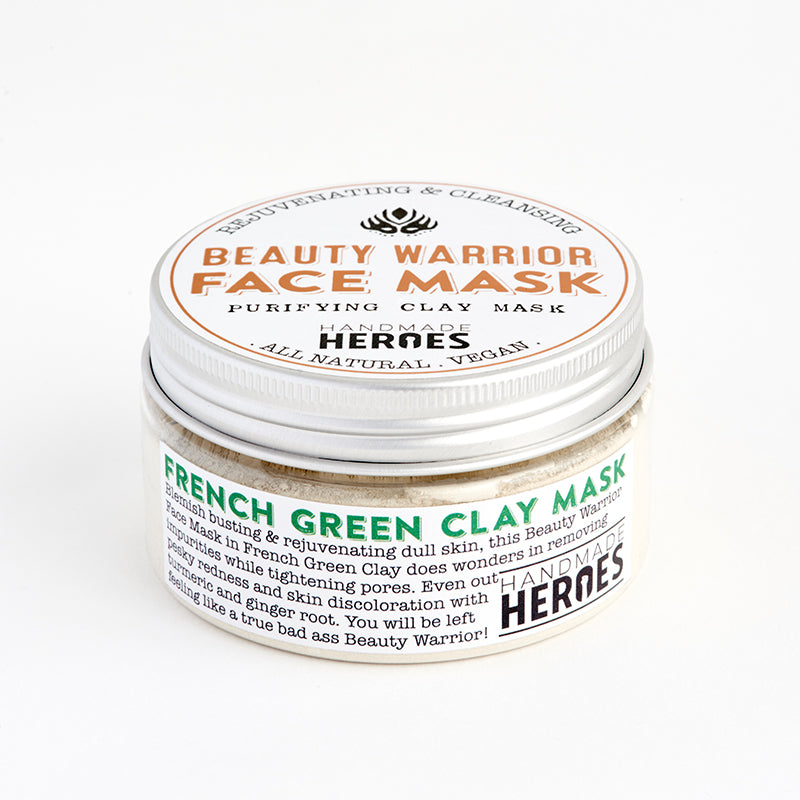 Handmade Heroes - Beauty Warrior Face Mask French Green Clay