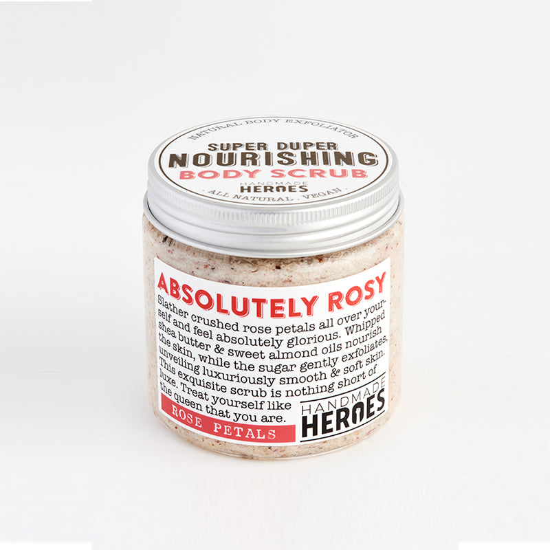 Handmade Heroes - Super Duper Nourishing Body Scrub with Rose Petals