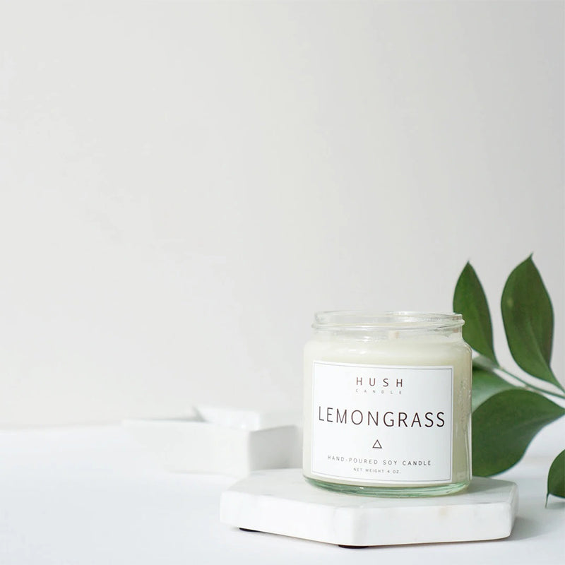 Hush Candle Lemongrass Essential Oil Candle