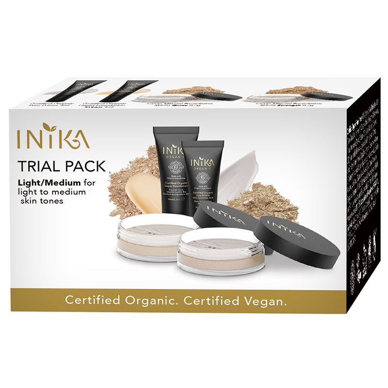 Inika Organic Foundation Trial Pack (Light-Medium)