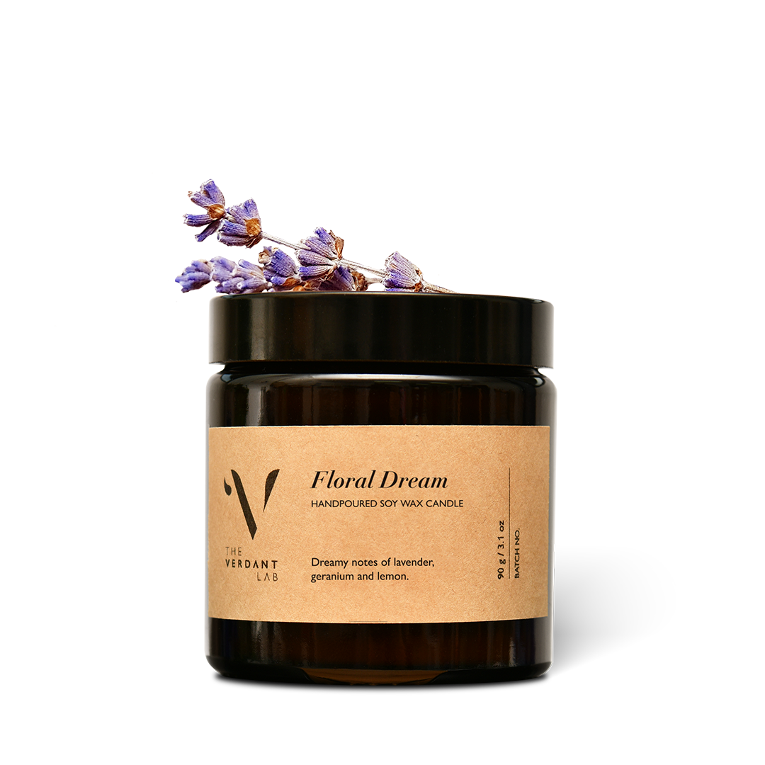 The Verdant Lab Floral Dream Soy Wax Candle