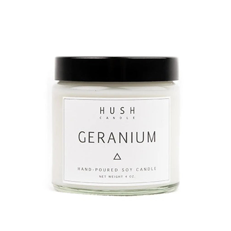 Hush Candle Geranium Essential Oil Candle