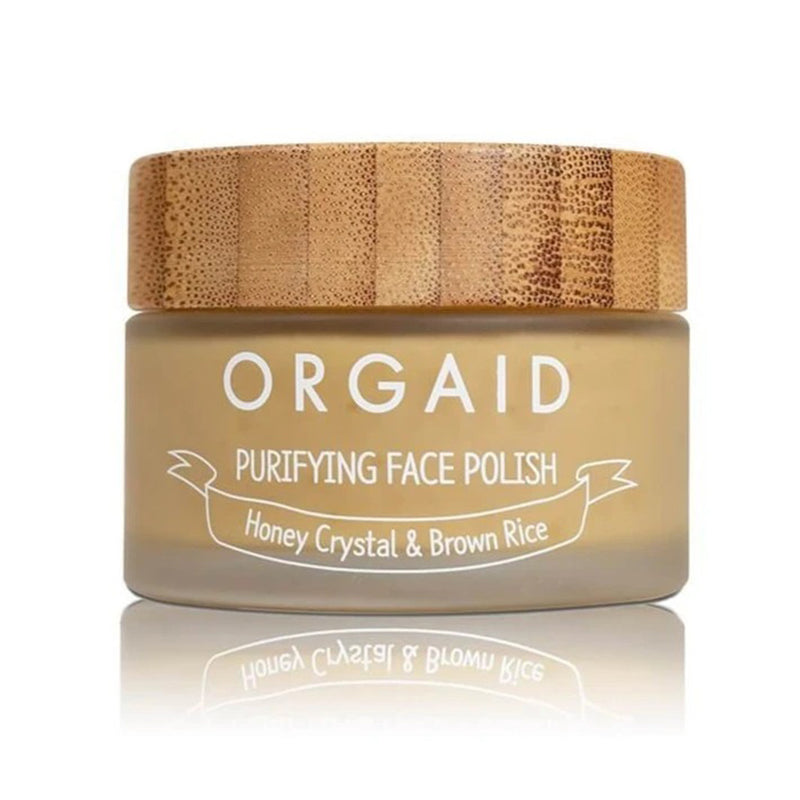 ORGAID Purifying Face Polish, Honey Crystal & Brown Rice