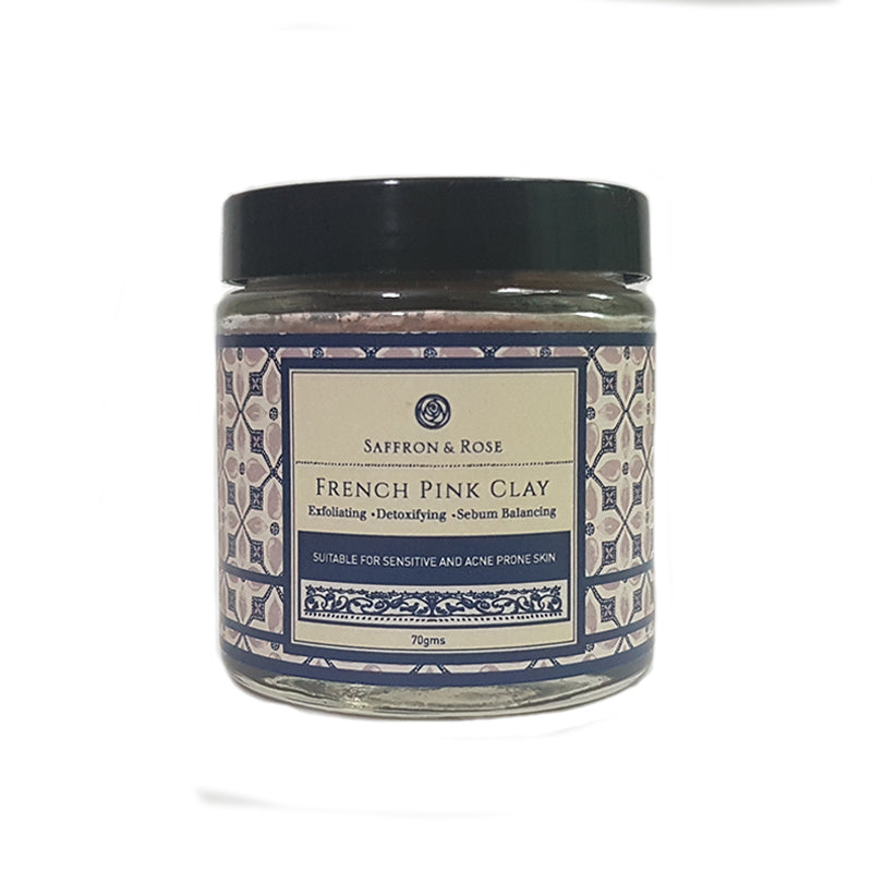 French Pink Clay Mask by Saffron & Rose