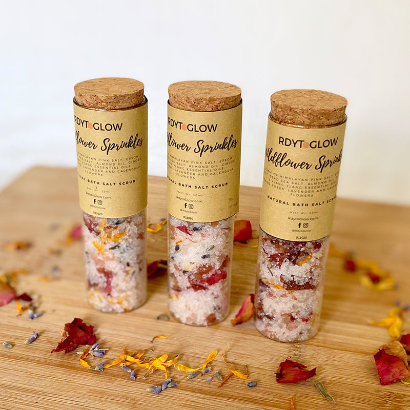 RdytoGlow Wildflower Sprinkles Bath Salt Scrub