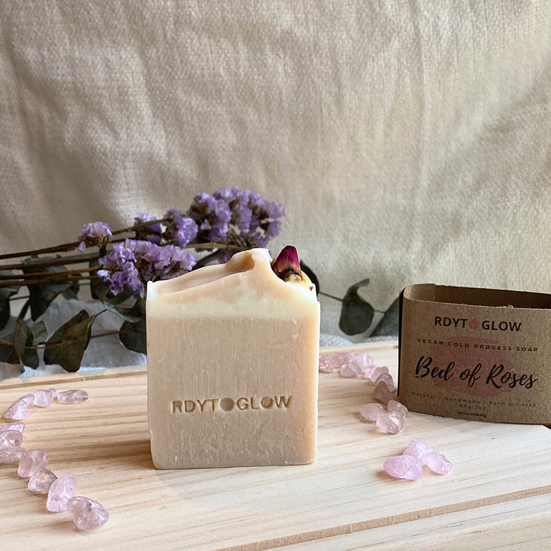 RdytoGlow Bed of Roses Vegan Soap