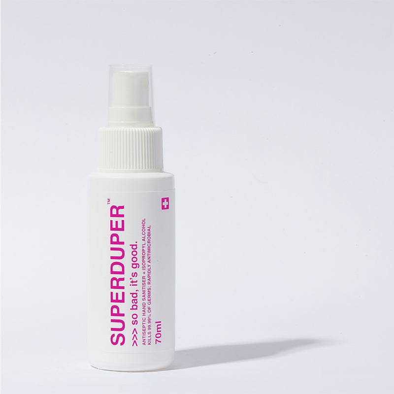SUPERDUPER Antiseptic Hand Sanitizer Pink (alcohol-based)