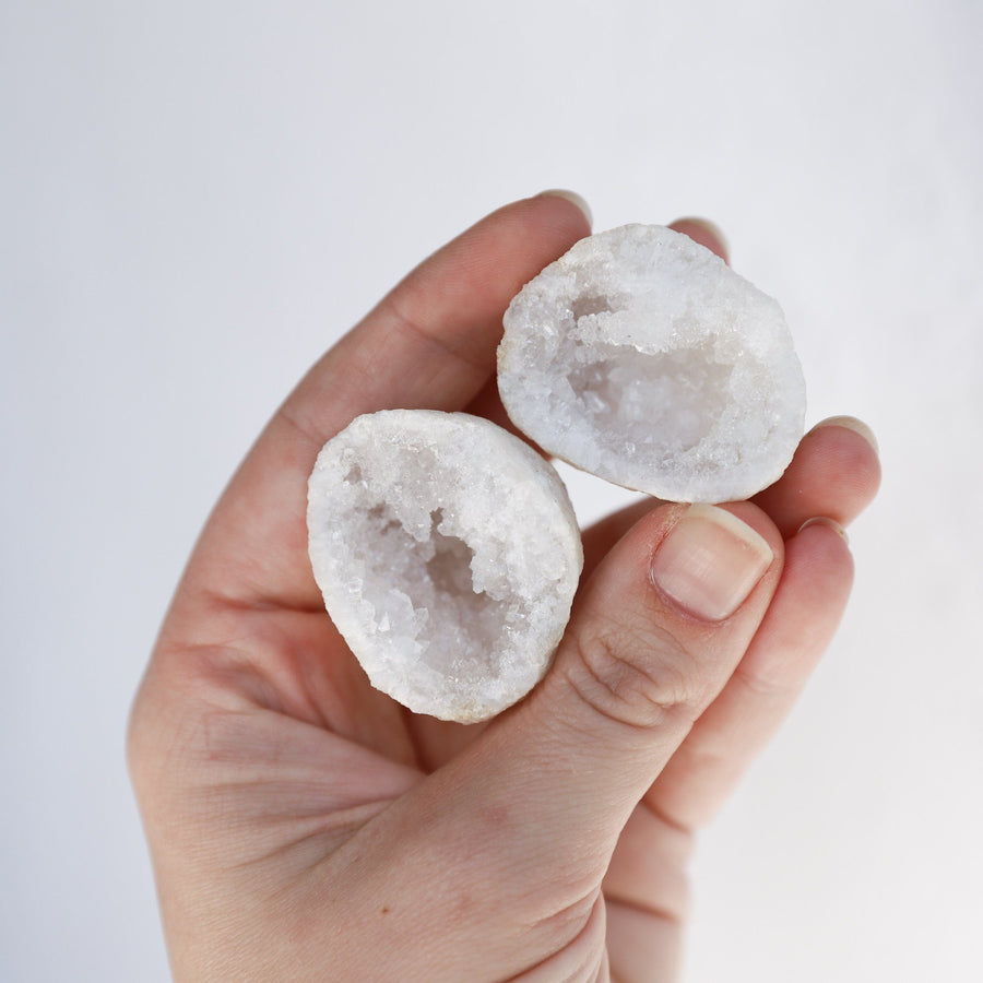 Clear Quartz Geode Pairs | Cuties Crystals